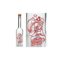 """500 ml  bouteille Opera imprimée """"Père Noël distribue les cadeaux """"."""