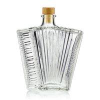 "500ml clear glass bottle ""Accordion"""