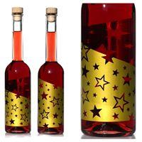 """500ml flaske med tryk """"Guldstjerner"""", med effekt"""