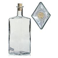 "500ml frostet/matteret flaske i klart glas ""Riva"""