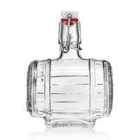 """500ml glazen fles met beugelsluiting """"vat"""""""