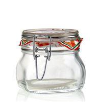 """500ml vasetto in vetro con chiusura meccanica """"Rocco"""""""