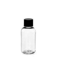 """50ml ovale Pet-Flasche """"Iris"""" Schwarz"""