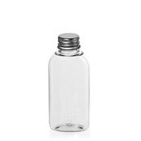 "50ml ovale Pet-Flasche ""Iris"" Aluminium"