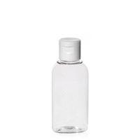 """50ml ovale Pet-Flasche """"Iris"""" weiß"""