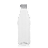 """750ml PET Weithalsflasche """"Milk and Juice"""" weiß"""