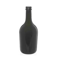 """750ml ancient green champagne/beer bottle """"Butterfly"""" black crown cork"""