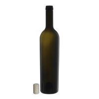 "750ml ancient green wine bottle ""Liberty Leggera"" agglomerated cork"