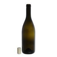 """750ml ancient green wine bottle """"Tiffany"""" agglomerated cork"""