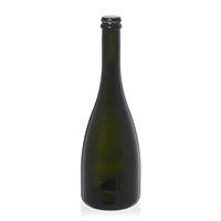 """750ml antiekgroene bubbeltjeswijn-/bierfles """"Tosca"""" kroonkurk zwart"""