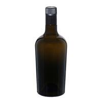 """750ml antiekgroene fles azijn-olie """"Oleum"""" DOP"""