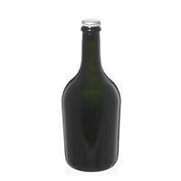 "750ml antyczna zielona butelka na szampan/piwo ""Butterfly"" z kapsel srebrny"