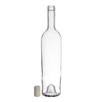 "750ml botella de vino transparente ""Liberty Leggera"" corcho aglomerado"