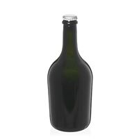 """750ml bottiglia verde antica per spumante/birra """"Butterfly"""" tappo a corona argento"""