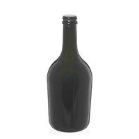 """750ml bottiglia verde antica per spumante/birra """"Butterfly"""" tappo a corona nero"""