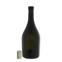 "750ml bottiglia verde antica per vino ""Exclusive"" sughero naturale"