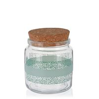 """750ml printed glass can """"Fogliami Verdi"""""""