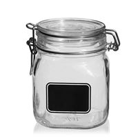 "750ml swing top jar ""Rocco"" with label field"