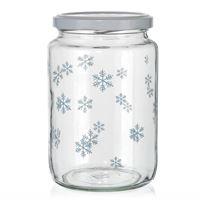 """795ml kerstpot """"Sneeuwvlok"""" blauw"""