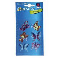 """Adesivi decorativi """"Farfalle con brillante"""""""