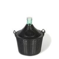 Ballonflasche hell 10 Liter mit Plastikkorb
