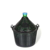 Ballonflasche grün 15 Liter mit Plastikkorb