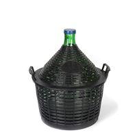 Ballonflasche grün 20 Liter mit Plastikkorb