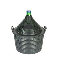 Demijohn 25 litres with plastic basket
