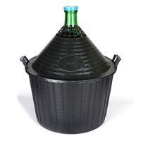 Ballonflasche grün 54 Liter mit Plastikkorb