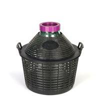 Ballonflasche Weithals 25 Liter mit Plastikkorb