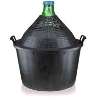 Ballonflasche 54 Liter mit Plastikkorb