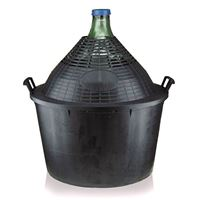 Gistfles groen 34 liter, met plastic mand