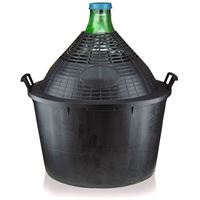 Gistfles groen 54 liter, met plastic mand