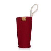 CARRY Sleeve bordeauxröd för 700ml glasdricksflaska