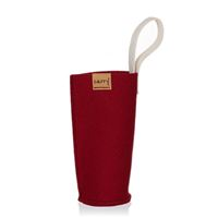 CARRY Sleeve bordeauxrood voor 700ml glazen drinkfles