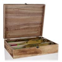Caja de madera natural para 3 botellas de vino
