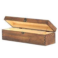 Casseta di legno in vernice marrone