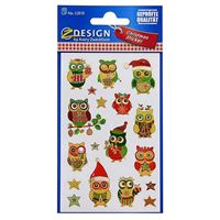 "Christmas labels ""Christmas owls"""