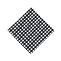 Cubiertita de tela cuadro negro 12x12cm incl. lazo de tejido