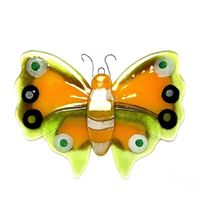 Decorative yellow glass butterfly