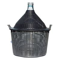Demijohn 34 litres with plastic basket