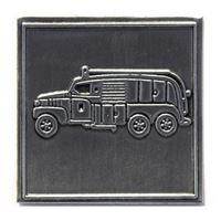 """Etichetta in metallo """"Camion dei pompieri"""""""