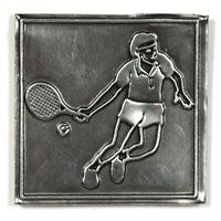 "Etichetta in metallo ""Tennis"""