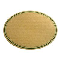 """Étiquette nature """"ovale"""" bord vert"""
