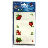 Étiquettes de ménage fraises
