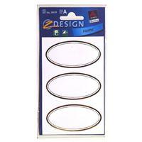 Étiquettes de ménage ovales métalliques dorées