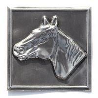 """Etykietka metalowa """"Koń"""""""