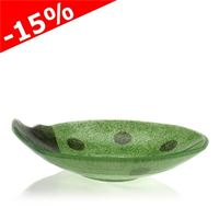 "Glass bowl ""Ladybird"", green"