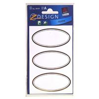 Household labels oval gold-metalic
