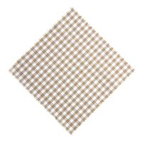 Marmalade jar napkin check beige 15x15cm incl. textile bow